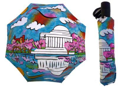 jefferson memorial cherry blossom umbrella