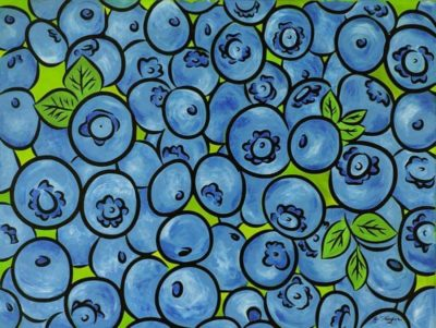 blueberries painting