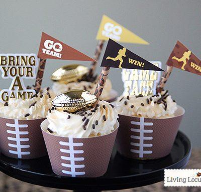 Free Printable Football Cupcake Wrappers