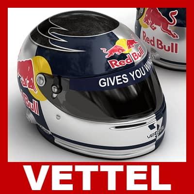 Sebastian Vettel F1 Helmet