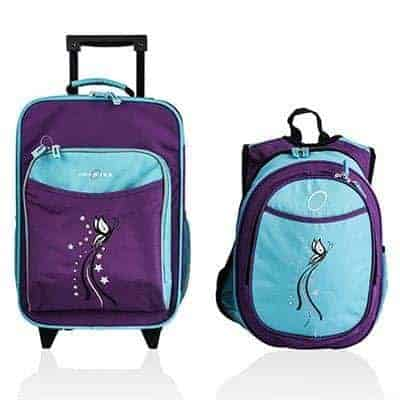 Obersee's rollerbag and backpack set is ideal for kids just starting to pack and carry their own luggage.
