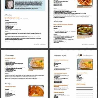 Week 16 – Free Printable Weekly Meal Plan