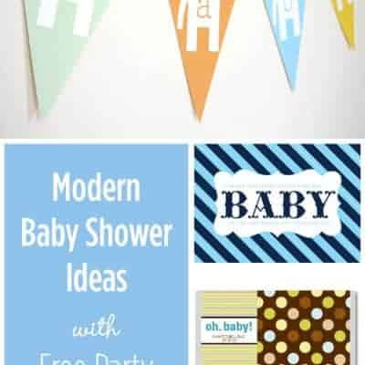 Modern Baby Shower Ideas with Printables
