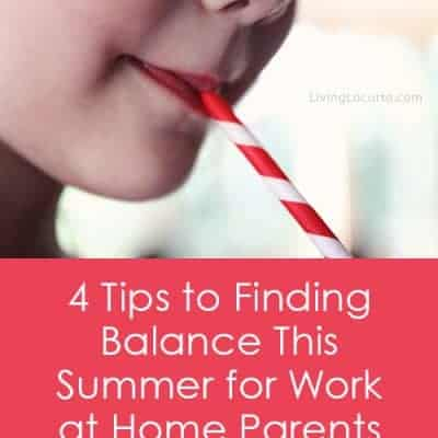 4 Tips to Finding Balance for Work at Home Parents