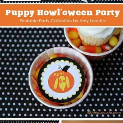 Dog Themed Halloween Printable Party Collection