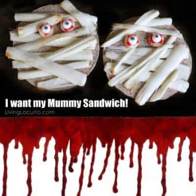 Halloween Mummy Sandwich {Fun Food}
