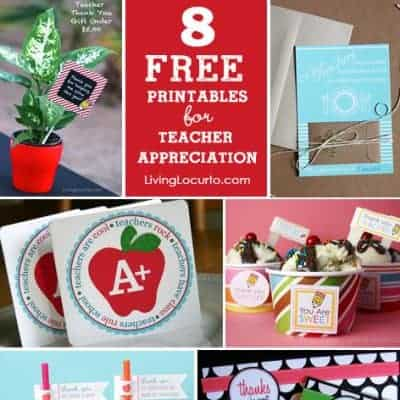 10 Cute Teacher Appreciation Gifts with Free Printables