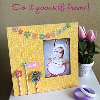 DIY Scrapbook Frame Craft {Tutorial}