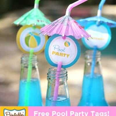 Free Printable Pool Party Tags | Summer Party Ideas