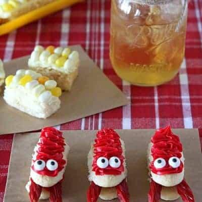 Crawfish and Corn on the Cob Cupcakes