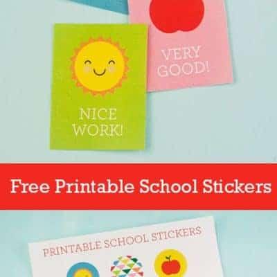 Free Printable School Stickers