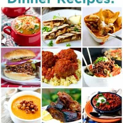 60 Delicious Slow Cooker Recipes! Great meal ideas for dinner. LivingLocurto.com