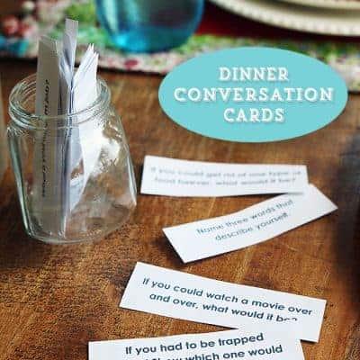 48 Dinner Conversation Starter Cards