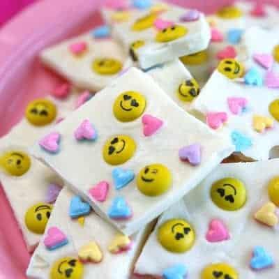 Emoji Chocolate Bark