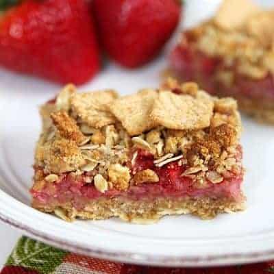 Strawberry Cashew Oatmeal Bars