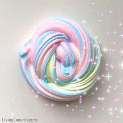 Rainbow Unicorn Fluffy Slime Recipe