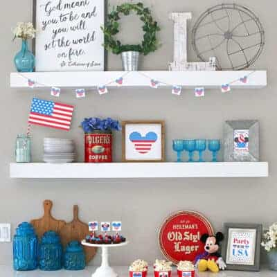 Disney Themed 4th of July Printables