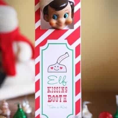 Elf Kissing Booth Printable