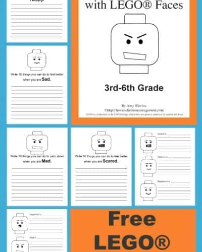 Free LEGO® Printables - a new set of Exploring Emotions with LEGO® Faces perfect for 3rd through 6th grade #homeschool.