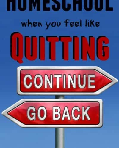 Feel like quitting homeschool? Time for refreshment.