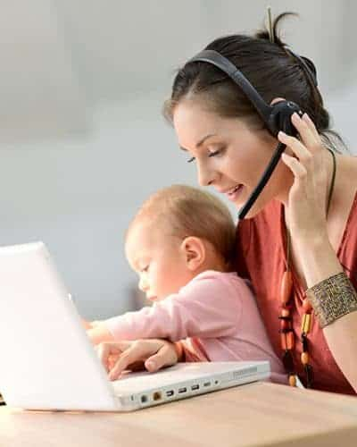 Work at home mom working - best gifts for work at home moms
