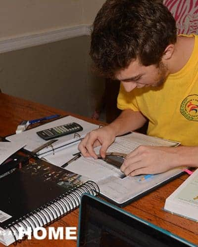 Jonathan Works on Physics from Apologia