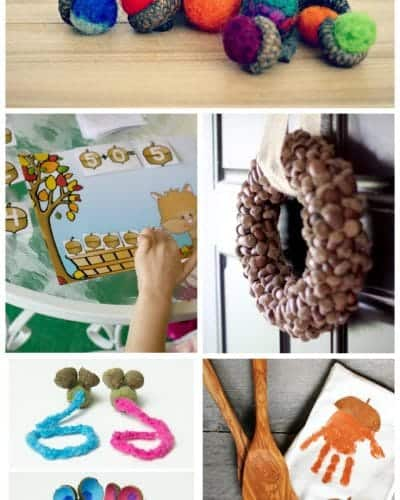 acorn themed crafts for kids to make this fall