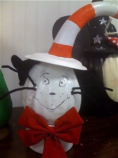 Halloween Dr. Seuss Painted Pumpkin | Living Locurto