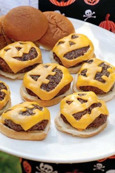 Jack-O Lantern Burgers