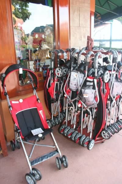 epcot, walt disney world, strollers at epcot