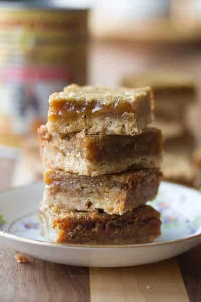 Stack of Butter Tart Bars
