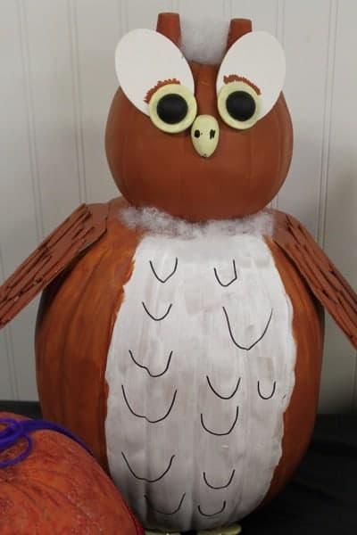 Halloween Owl Painted Pumpkin | Living Locurto