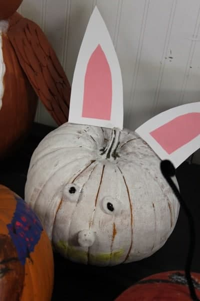 Halloween Bunny Painted Pumpkin | Living Locurto