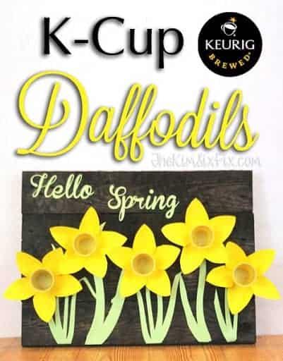 Spring Daffodil K cup craft