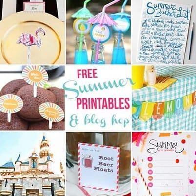 Free Summer printables and blog hop