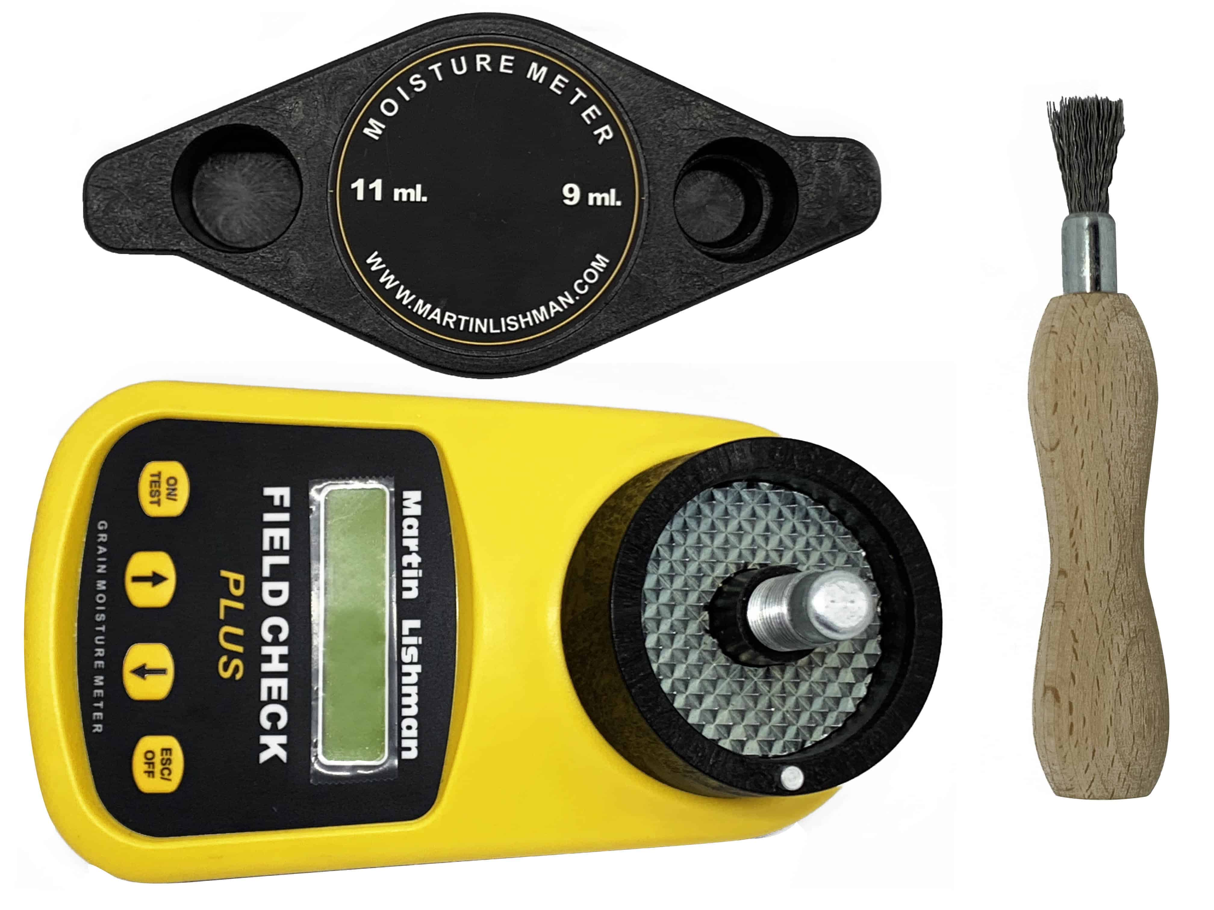 The Martin Lishman field check moisture meter comes with everything needed