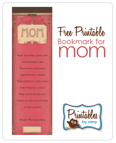Mom Free Printable Bookmark - Mother's Day Gift