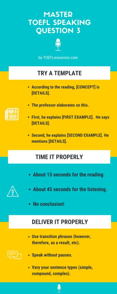 TOEFL speaking question 3
