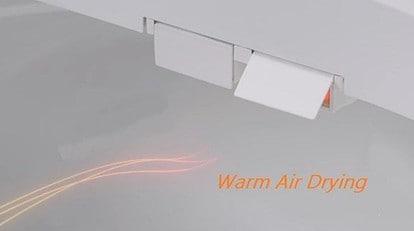 bidets warm air dryers