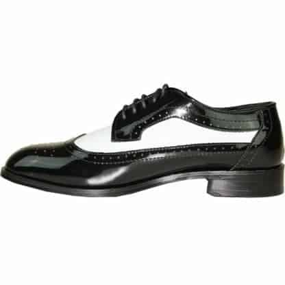 Black and White Wing Zoot Mens Tuxedo Shoes by Jean Yves Spat Shoes