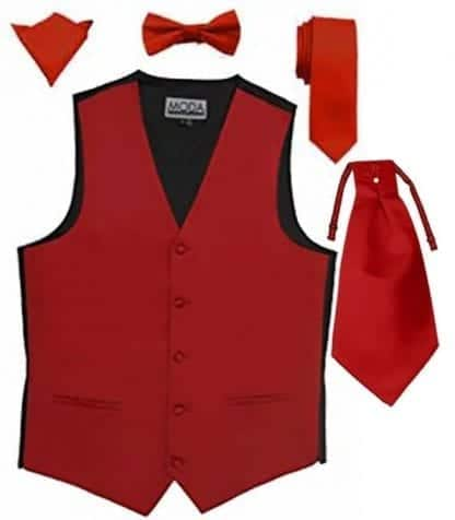 Mens Vest For Tuxedo And Suit Solid Satin
