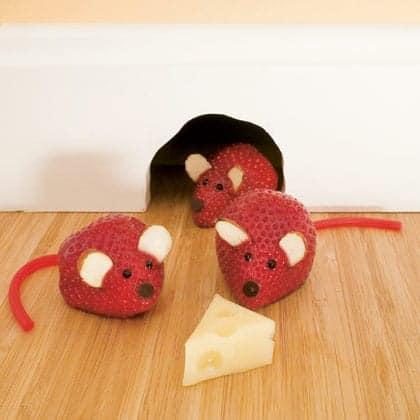 Healthy Snack Recipes for Kids - strawberry mice recipe Familyfun.com