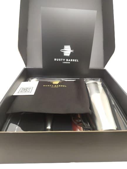 Image shows the internal black gift box.