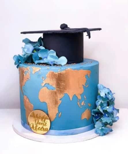 Travel the World Cake, graduation cake design