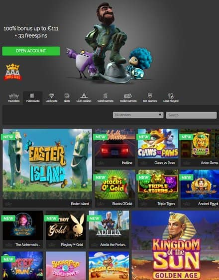 Triple Aces Casino free bonus money