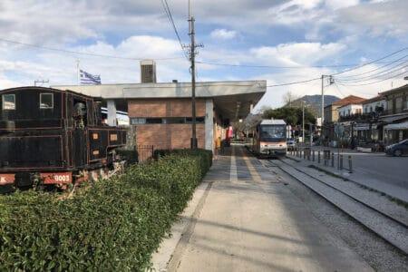 Zahnradbahn - Bahnhof Diakopto