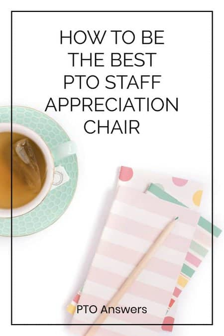 how to be the best staff appreciation chair on desk with notebooks and tea