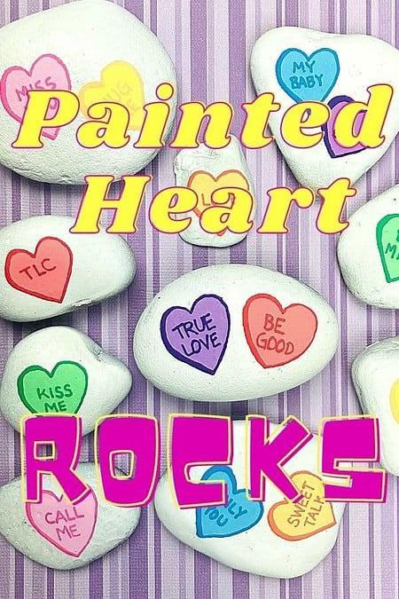 painted heart friendship rocks