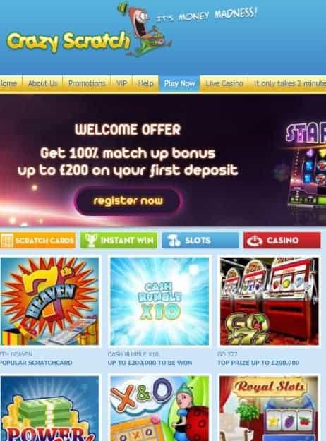 Crazy Scratch Casino Review