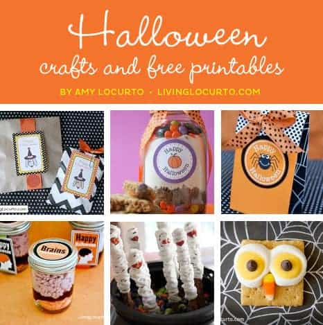 Halloween Party Recipes, Crafts and Free Party Printables at LivingLocurto.com